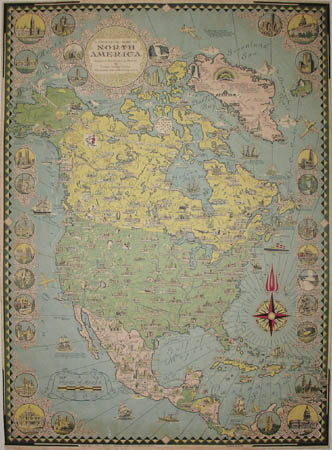 Ernest Dudley Chase, A Pictorial Map of North America