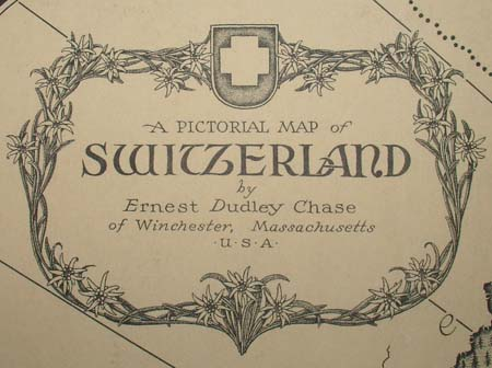 Ernest Dudley Chase, A Pictorial Map of Switzerland, detail