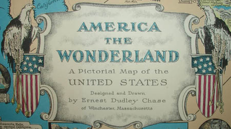 Detail of America the Wonderland pictorial map