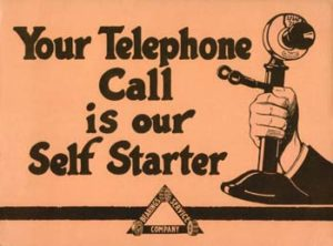 Your telephone call is our self starter - antique graphic
