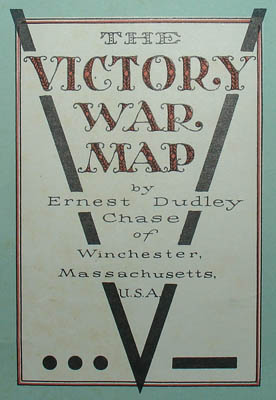 Ernest Dudley Chase, The Victory War Map, detail