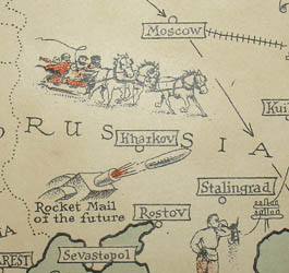 Ernest Dudley Chase, Mercator Map of the World United: A Pictorial History of Transport and Communications and Paths to Permanent Peace, detail