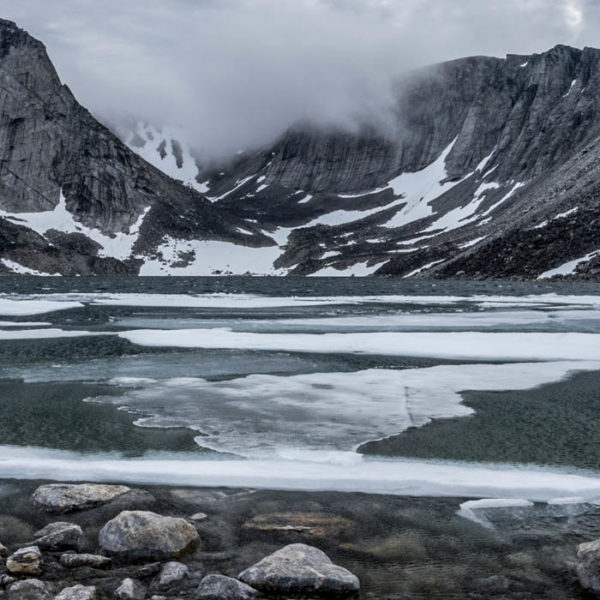 Lake, Cape Mercy, Baffin island, detail