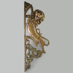 Lion carousel plaque