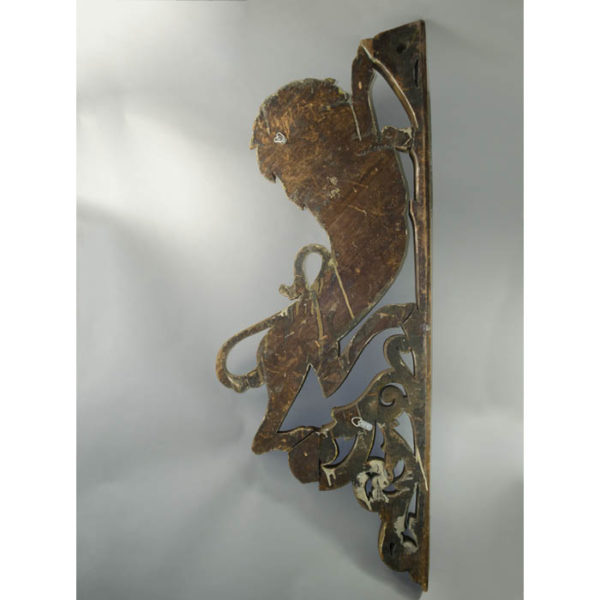 Lion-form Carousel Panel, back