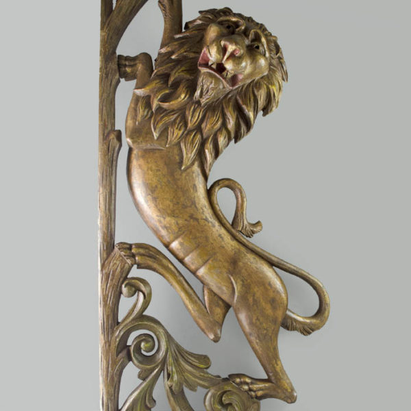 Lion-form Carousel Panel, detail