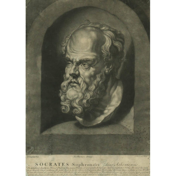 Socrates Sophronisci filius Atheniensis, after Rubens