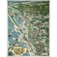 Sarasota, Official Map by Thornton Utz