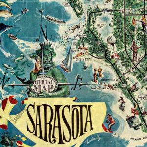 Sarasota Pictorial Map cartouche
