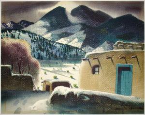 Southwest Landscape in Winter