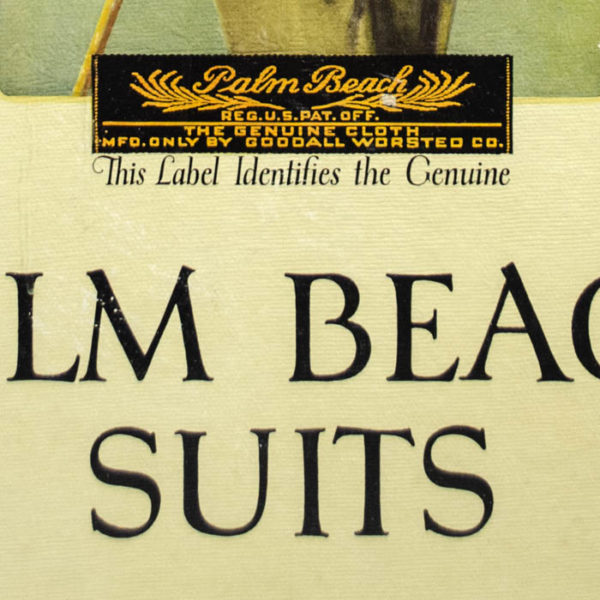 Palm Beach Suits, detail of label