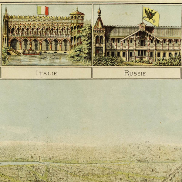 Panorama Des Palais De L'Exposition, Vue de L'Exposition Universelle de Paris 1878