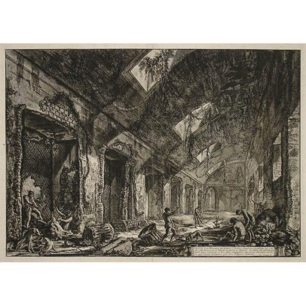 Veduta di un Eliocamino per àbitarvi l'Inverno [Heliocaminus Baths, Hadrian's Villa]