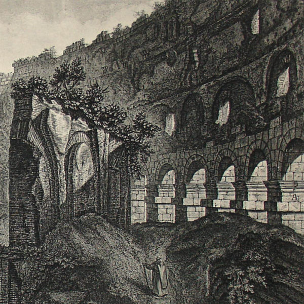 Veduta Interna del Colosseo [Interior View of the Colosseum], detail