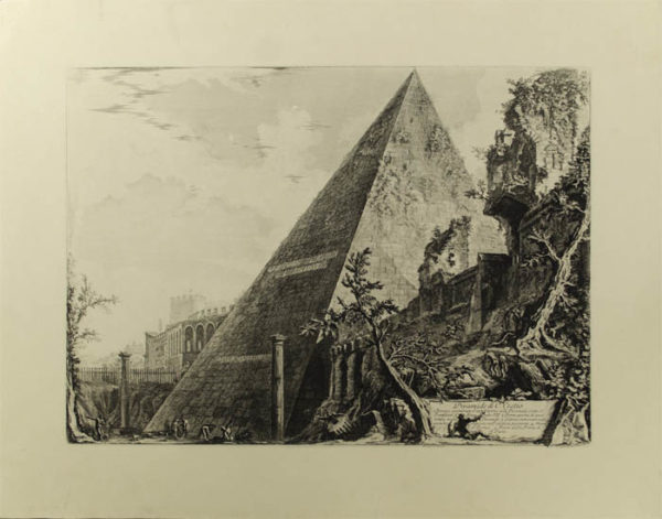 Piramide di C. Cestio [The Pyramid Of Gaius Cestius] from Vedute di Roma