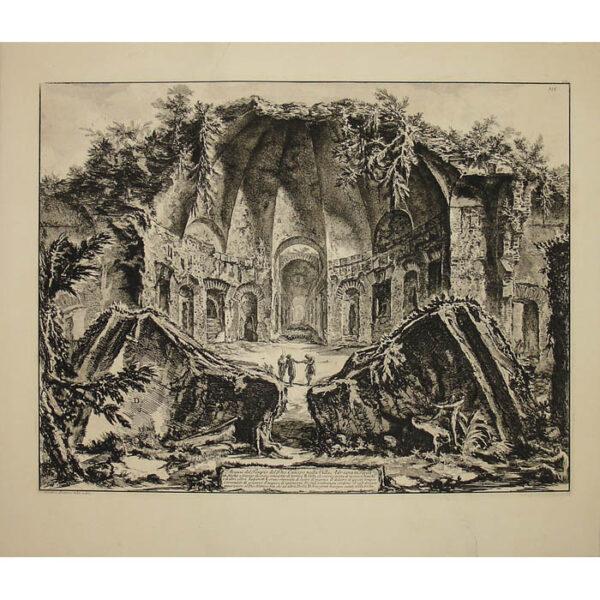 Avanzi del Tempio del Dio Canopo nella Villa Adriana in Tivoli [Serapeum at Hadrian's Villa], full sheet