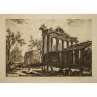 Altra Veduta degli avanzi del Pronao del Tempio della Concordia (Temple of Saturn)