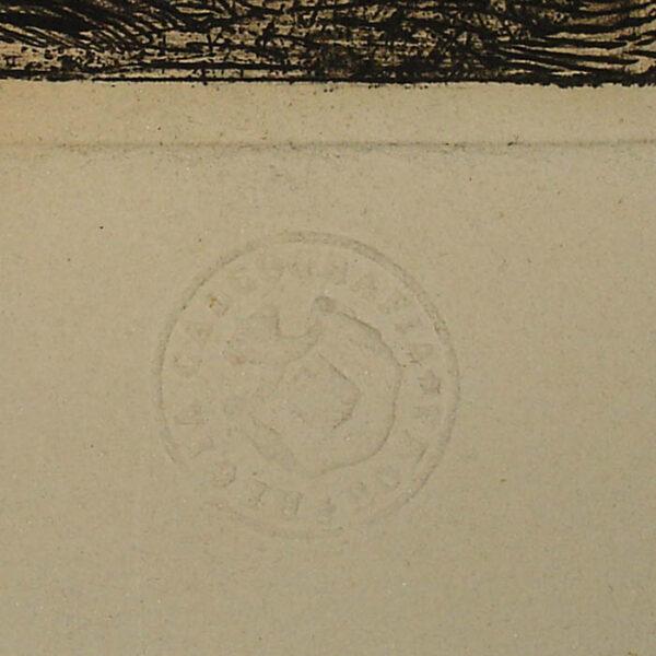 Altra Veduta degli avanzi del Pronao del Tempio della Concordia (Temple of Saturn), detail