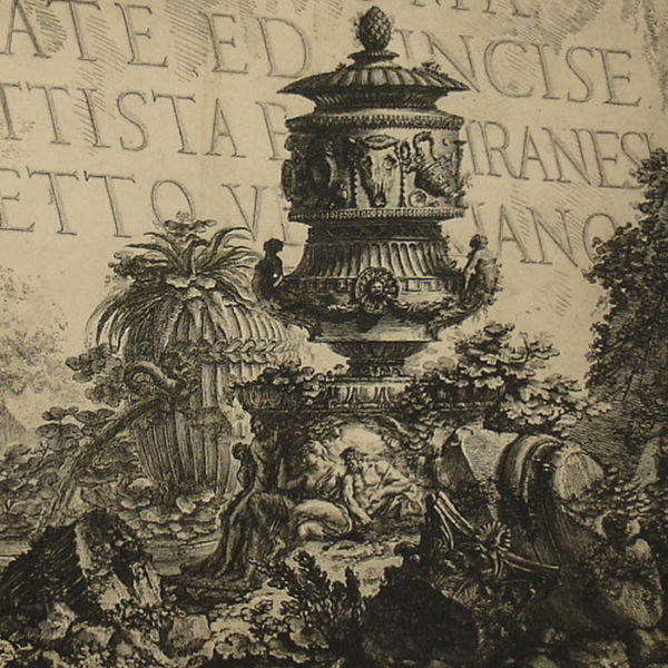 Vedute di Roma Title Page, detail