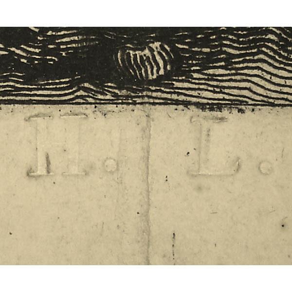 Vedute di Roma Title Page, watermark