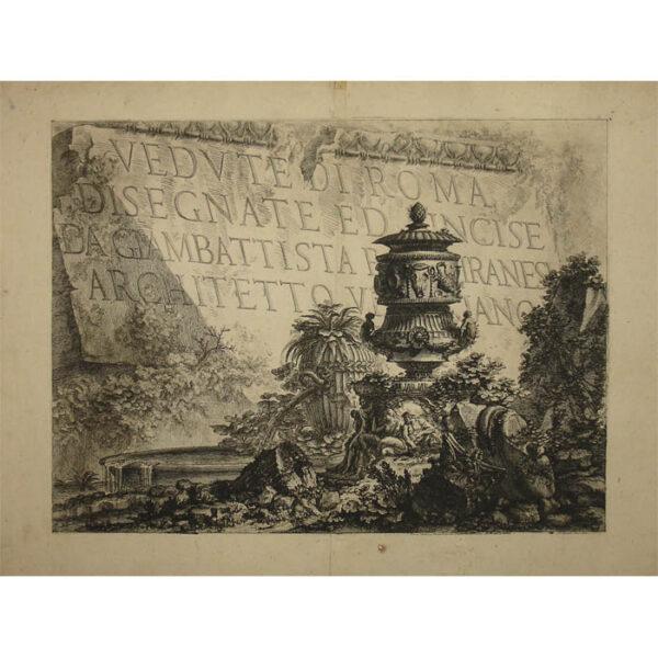 Vedute di Roma Title Page, full sheet