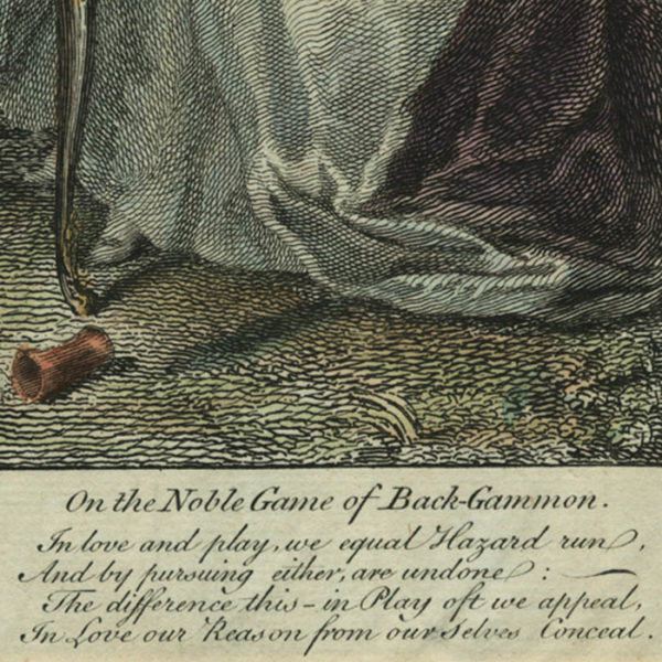 On the Noble Game of Back-Gammon/ Sur le noble Jeu de Toute Tables, ou Tric-trac, detail of verse