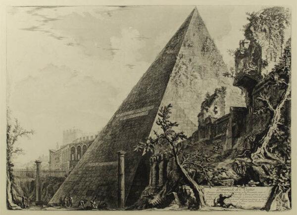 Piranesi Pyramid of Caius Cestius