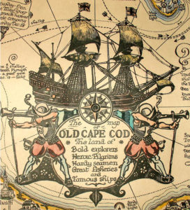 Cape Cod map cartouche