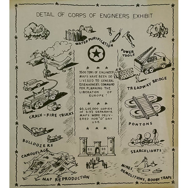 Weapons of War: An Exhibit of the Army Service Forces, Map of Central Park, back cover
