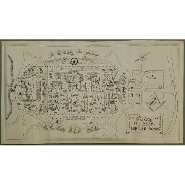 Weapons of War: An Exhibit of the Army Service Forces, Map of Central Park Great Lawn