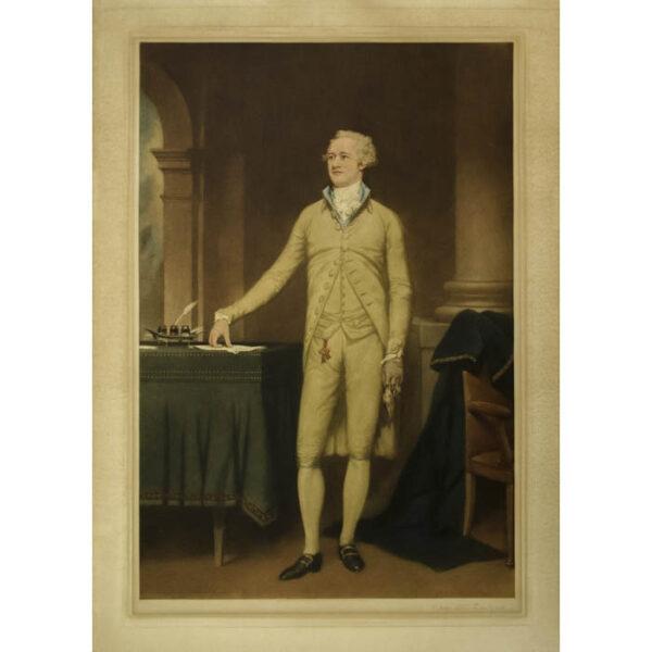 Alexander Hamilton, portrait print after John Trumbull