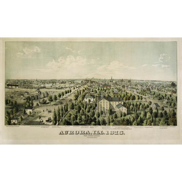 Aurora, Ill. 1875 from Jennings Seminary