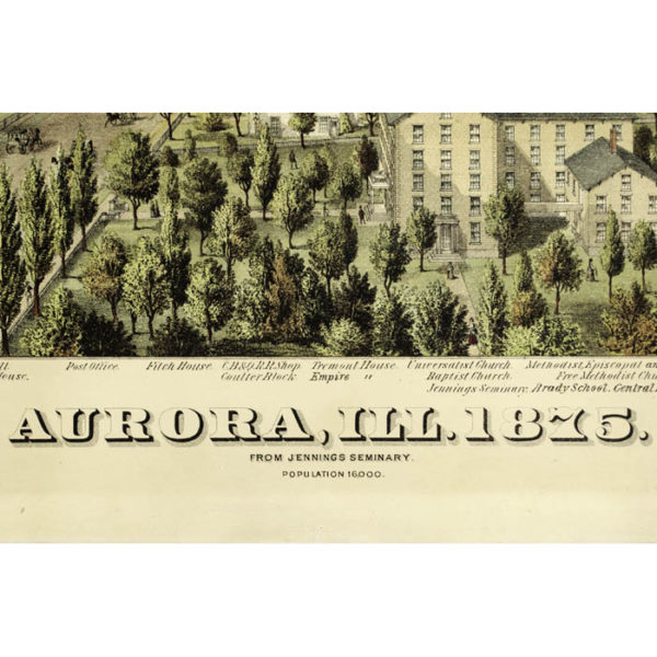 Aurora, Ill. 1875 from Jennings Seminary, detail