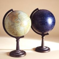 Photo of globes from George Glazer Gallery appearing in Conde Nast Traveler