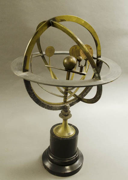Copernican armillary with internal orrery