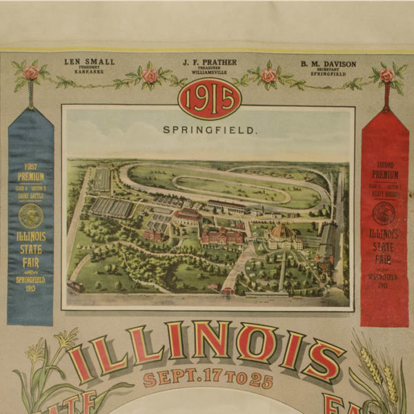 1915 Illinois State Fair Poster, detail