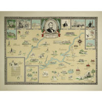 Abraham Lincoln Pictorial Map