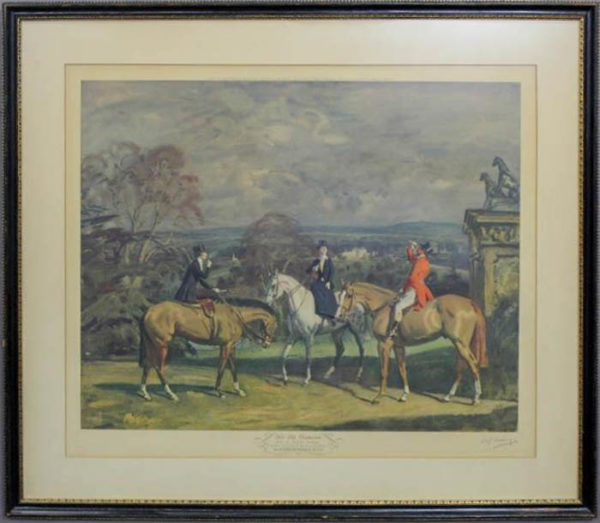 His Old Demesne after Munnings, framed