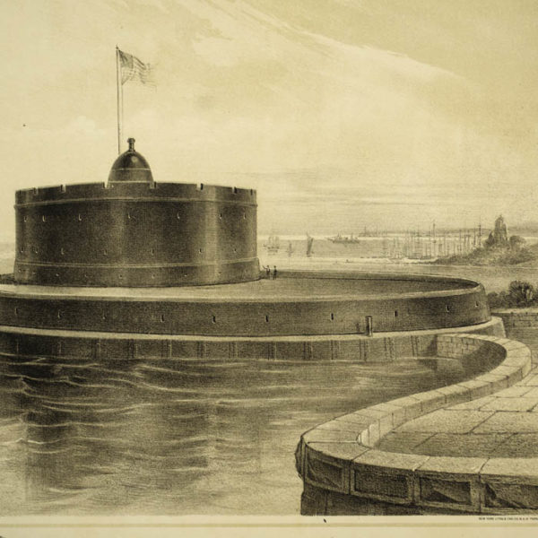 Detail of Figure 4: Timby's Cordon of Revolving Towers for Harbor Defence