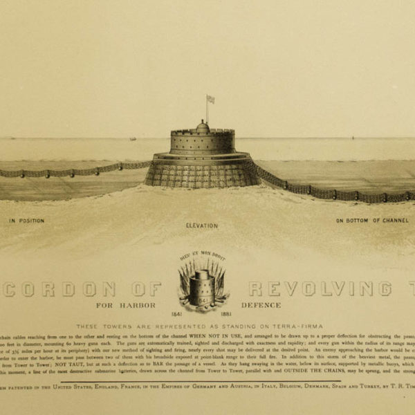 Detail of Figure 6: Timby's Cordon of Revolving Towers for Harbor Defence