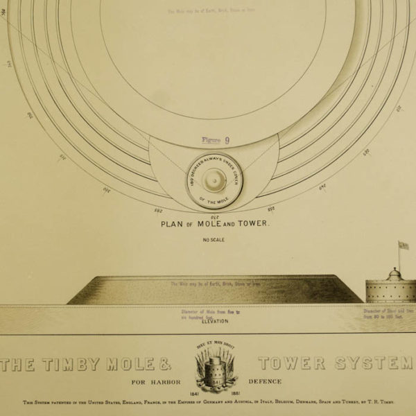 Detail of Figure 8: The Timby Mole and Tower System for Harbor Defence