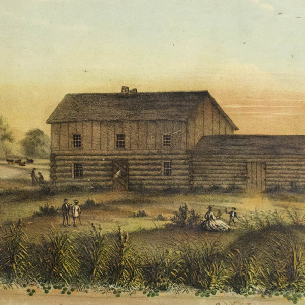 Wolf's Point in 1833, detail