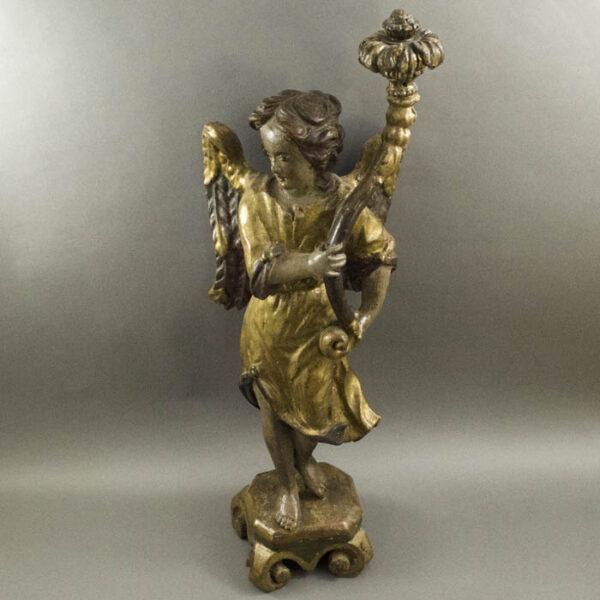 Angel, carved wood