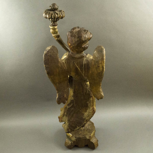 Angel, carved wood, back