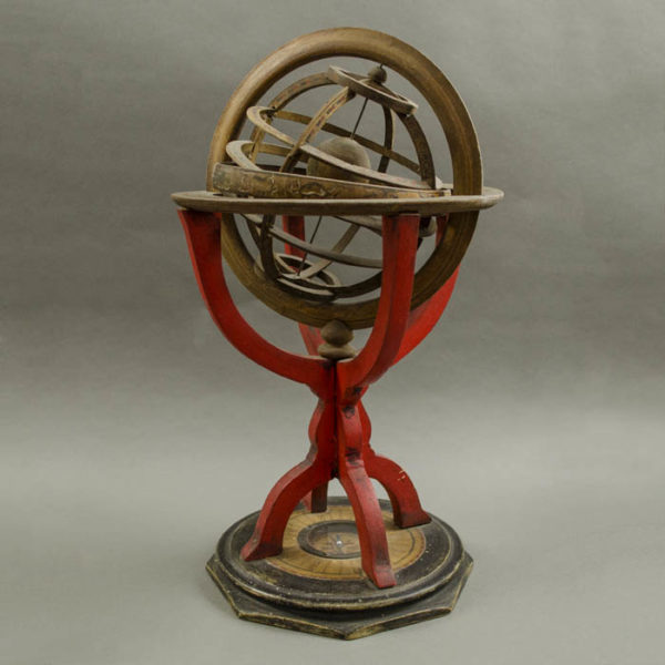 Ptolemaic Armillary Sphere, side view
