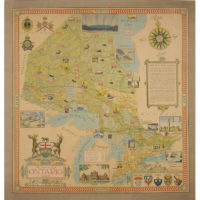 The Province of Ontario, Canada, pictorial map