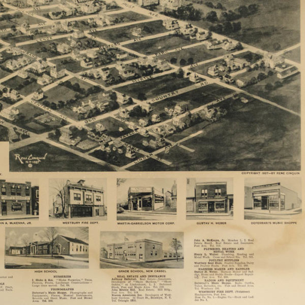 Aero-View of Westbury, Long Island, New York 1927, detail