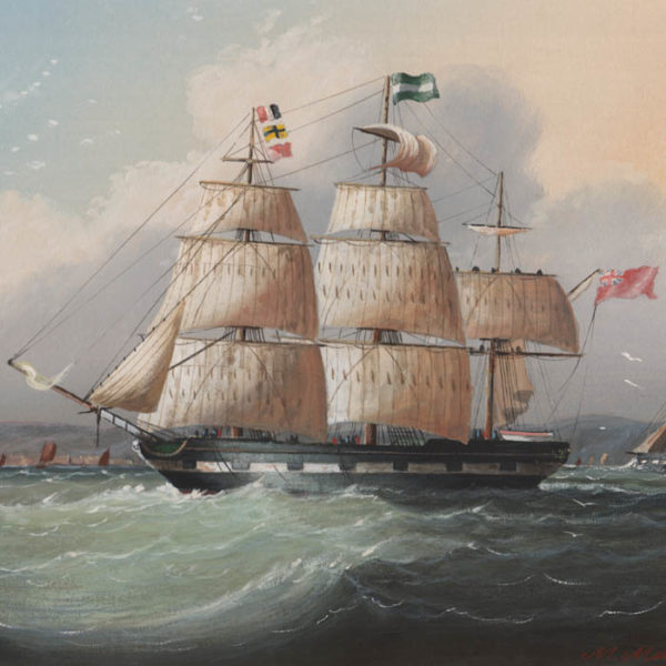 Michael Matthews, British Clipper Ships (No. 2), detail