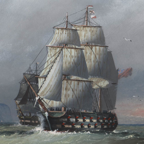 Michael Matthews, British Clipper Ships (No. 3), detail