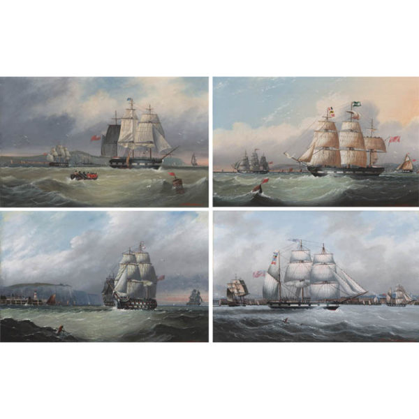 Four Paintings of British Clipper Ships by Michael Matthews